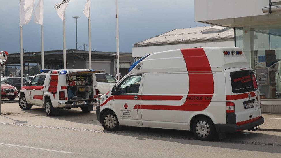 Notarzteinsatz nach Verkehrsunfall in Wels-Pernau