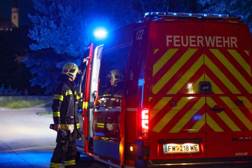 Feuerwehreinsatz: Katze steckt in einem Rohr einer Dachrinne in Wels-Innenstadt fest