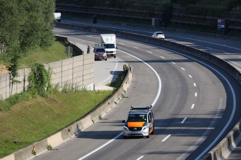 Schwere Kollision im Tunnel Steinhaus-Taxlberg auf der Innkreisautobahn bei Steinhaus
