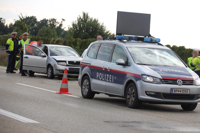 Verkehrsunfall auf Westautobahn bei Eberstalzell