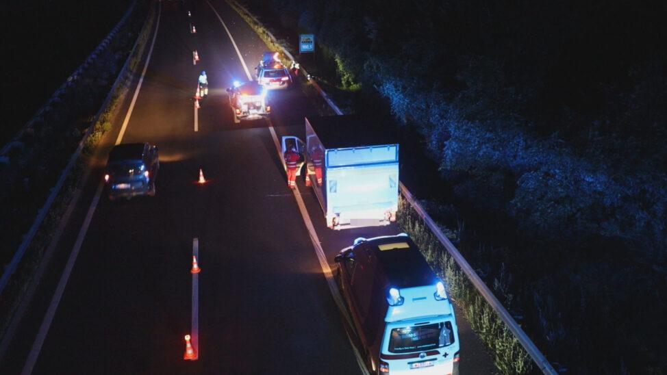 Personenrettung nach medizinischem Notfall auf Innkreisautobahn bei Krenglbach