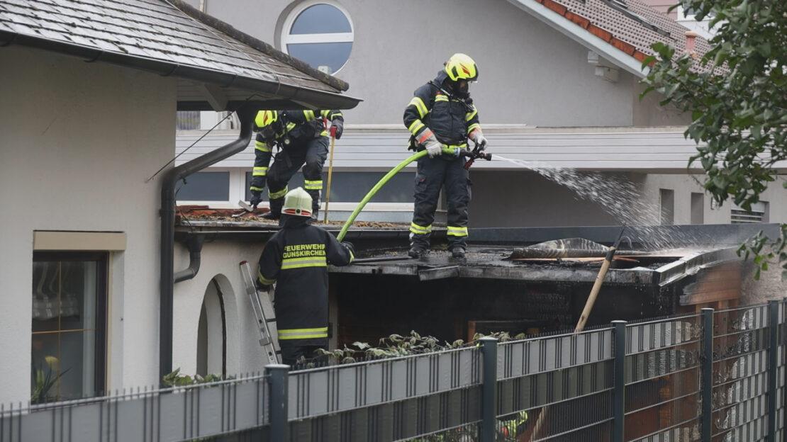 Brand bei Garagenanbau neben Wohnhaus in Gunskirchen