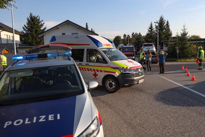 Kreuzungskollision zwischen zwei PKW in Gunskirchen