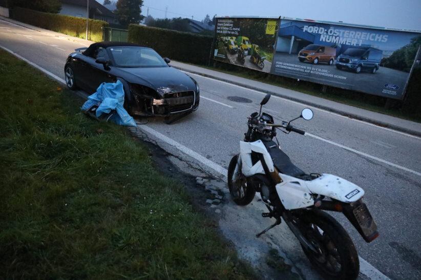 Mopedlenker bei Kreuzungskollision auf Gmundener Straße in Stadl-Paura verletzt