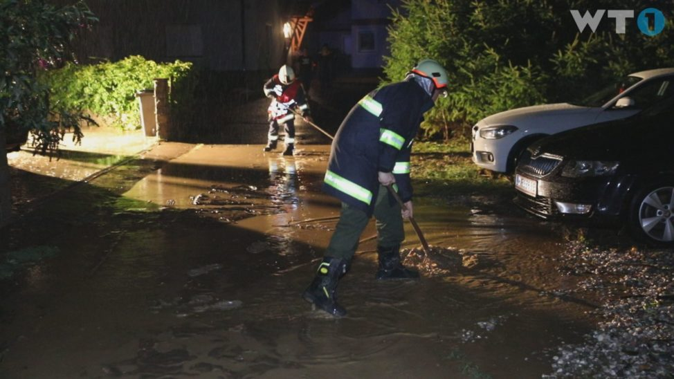 Gewitter mit Starkregen sorgt örtlich für einige Einsätze der Feuerwehren