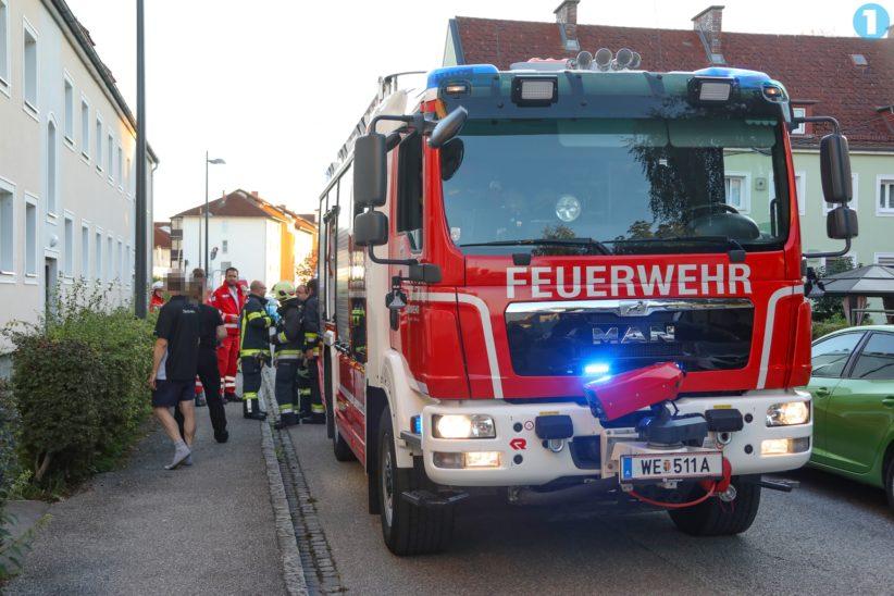 Kleinbrand in einer Wohnung in Wels-Vogelweide rasch gelöscht