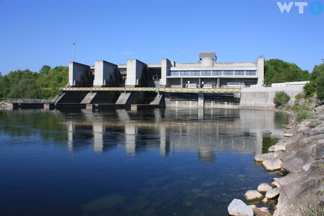 Kraftwerk Traun-Pucking - Staupegel wird abgesenkt