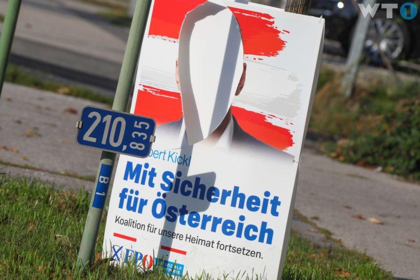 Wahlplakate der FPÖ beschädigt - Plakate der Grünen ebenso betroffen