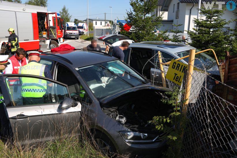 Sechs Verletzte bei schwerem Kreuzungscrash in Gunskirchen