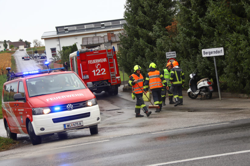 Verkehrsunfall mit Motorroller in Thalheim bei Wels
