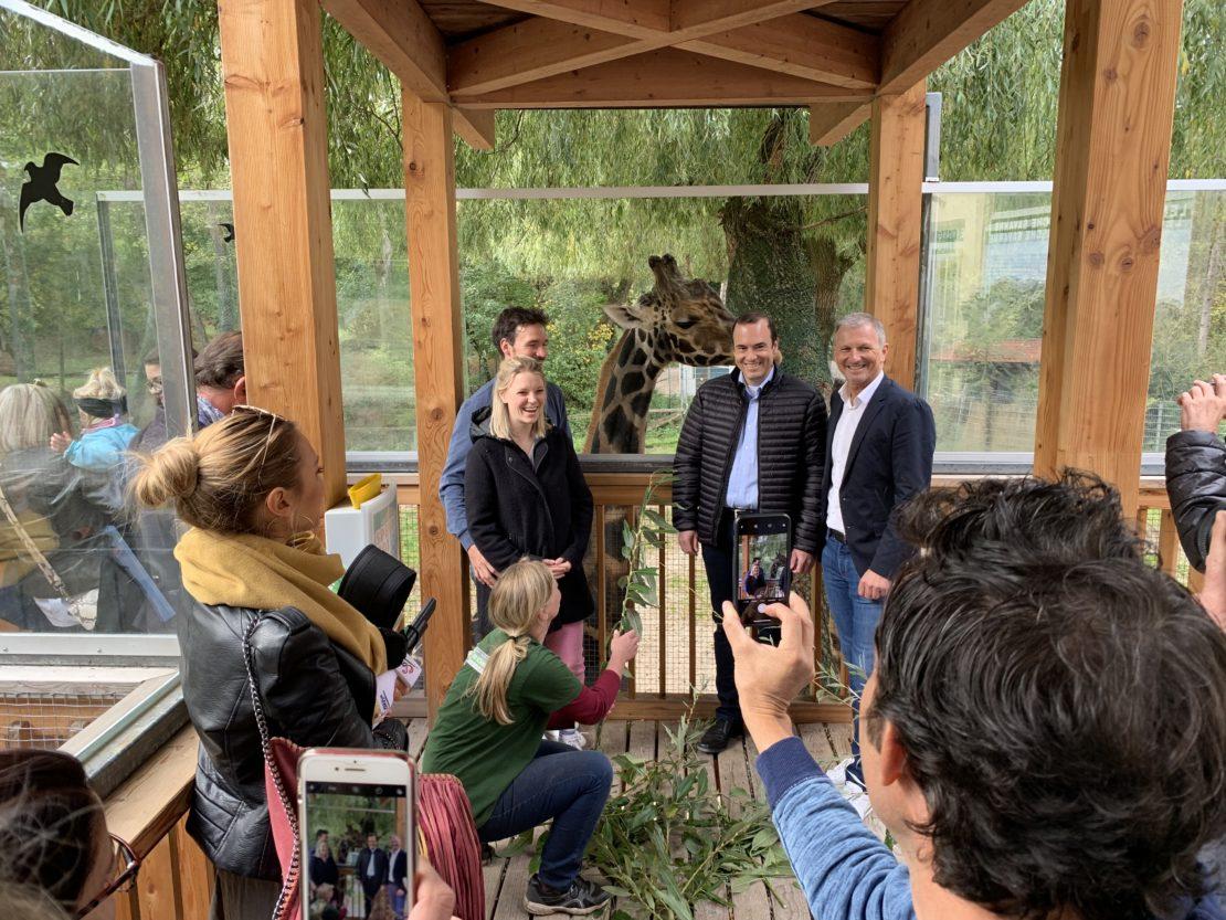 Felix Neureuther im Zoo Schmiding