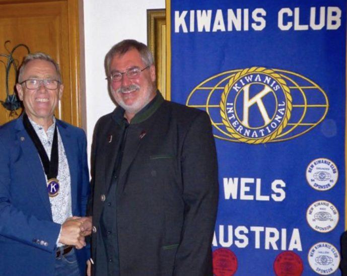 Feierliche Amtsübergabe beim Kiwanis Club Wels!