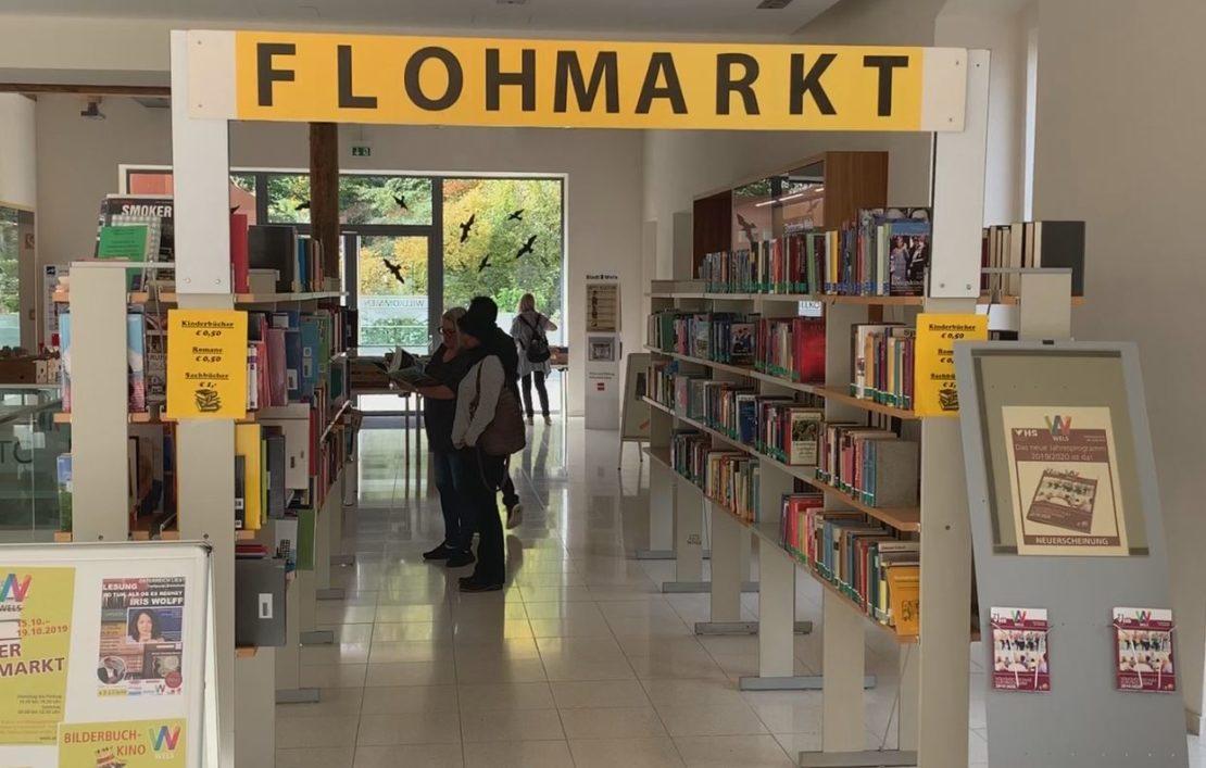 Flohmarkt - Abverkauf in der Stadtbücherei